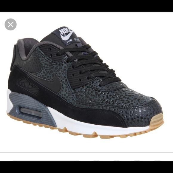 code promo 22aff 774fb Nike Air Max 90 Premium Safari Black Size 5.5